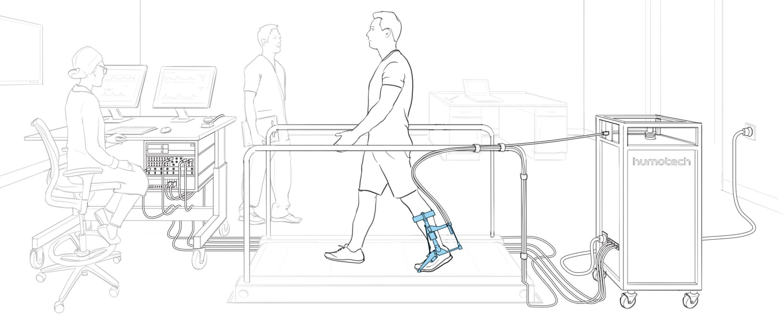 Full-Size Caplex System with EXO-001 Ankle Exoskeleton