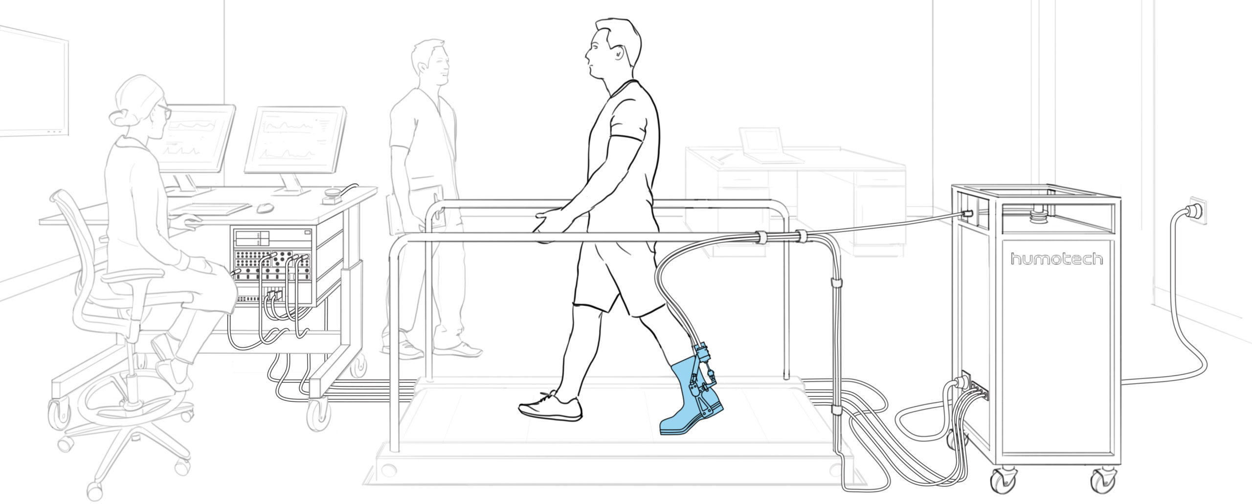 Full-Size Caplex System with EXO-005 Ankle Exoskeleton