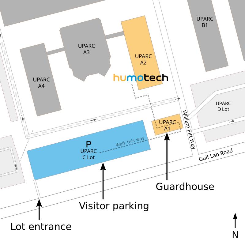 Map of U-PARC entrance